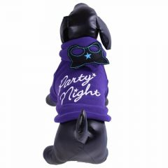 "Chaqueta lila de forro polar para perros ""Party Night"""